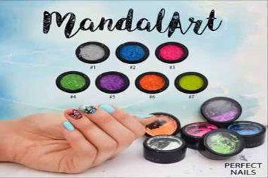 Mandalart nailart flakes