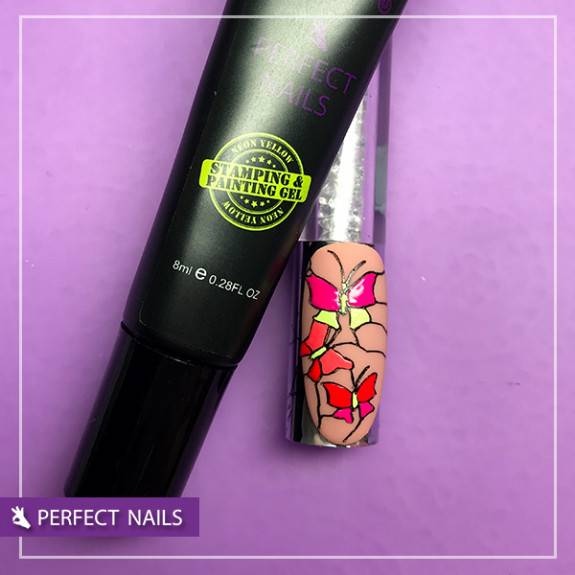 2 in 1 Stamping & Painting Gel - Neon Yellow